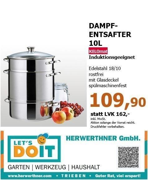 ©KELOmat Dampfentsafter-HERWERTHNERs Aktion
