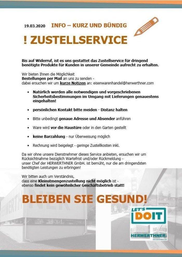 !CORONA_INFO-Zustellservice_©LET'S DOIT HERWERTHNER GmbH. Trieben - GARTEN | WERKZEUG | HAUSHALT