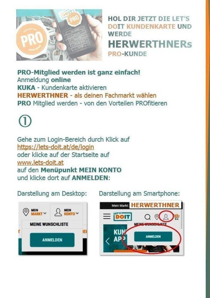 ©HERWERTHNERs PRO-Anmeldehilfe 1 - werde unser PRO-Kunde