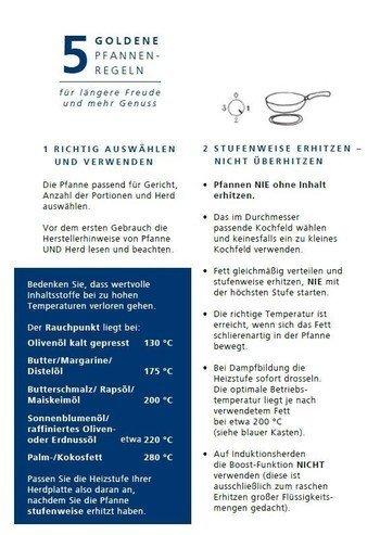 © RIESS-KELOMAT die 5 goldene Pfannenregeln_LET'S DOIT HERWERTHNER _GARTEN|WERKZEUG|HAUSHALT Fachgeschäft in Trieben