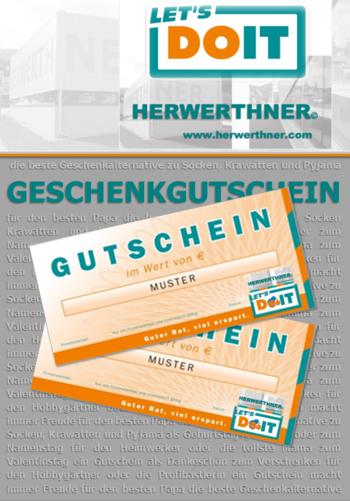 ©HERWERTHNER GmbH. LET'S DOIT Geschenkgutschein